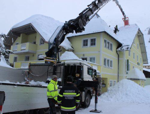 Schnee-Einsatz T07 Unwetter Planneralm 17.01.-18.01.2019